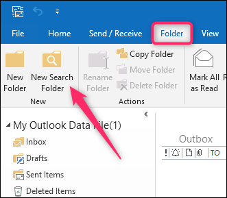 Create Outlook Search Folder