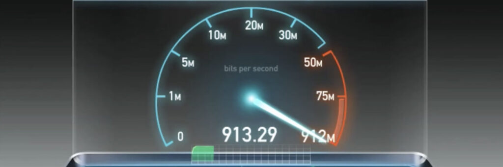 Internet speed test for mesh networks